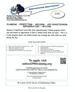 Plumbers & Pipefitters Local #396 Apprenticeship Information