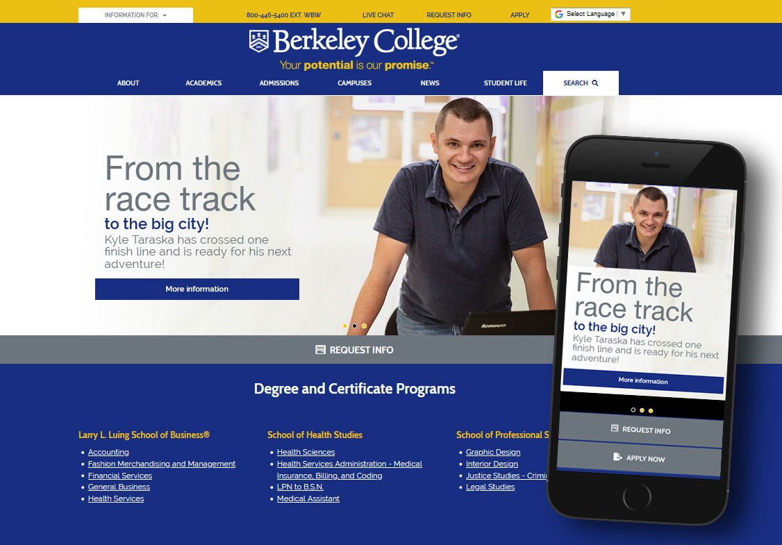 Responsive Website - Berkeley College