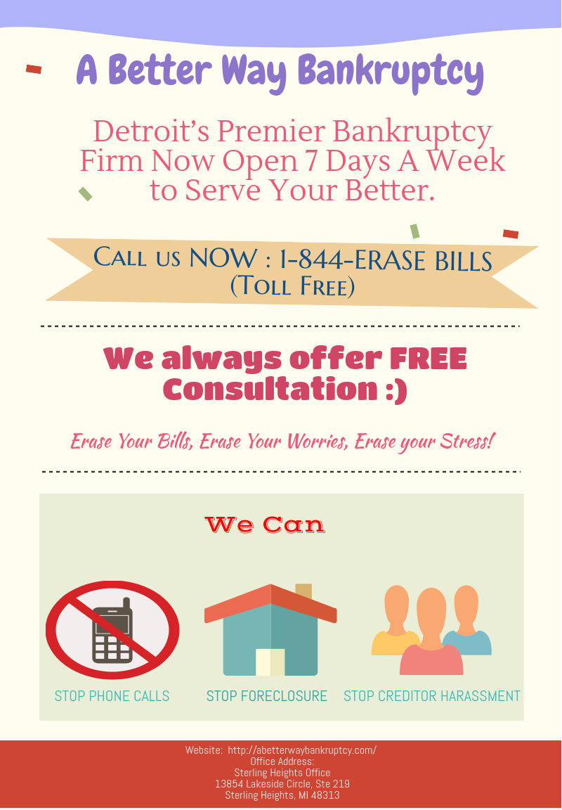 Affordable bankruptcy lawyer , Detroit's Premier Bankruptcy Firm Now Open 7 Days A Week to Serve Your Better.