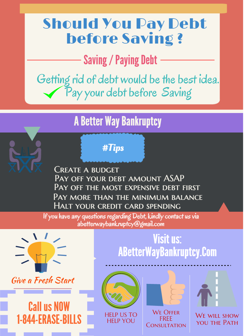 Should you Pay debt before saving ?