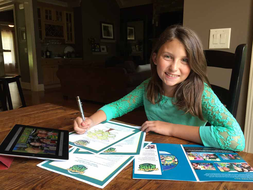 girl learning financial literacy