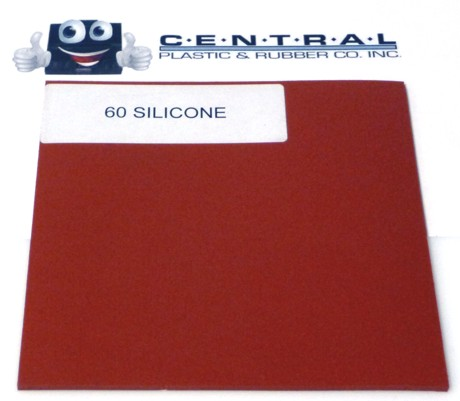 Solid Silicone-Red - Commercial Grade 60 Duro Products