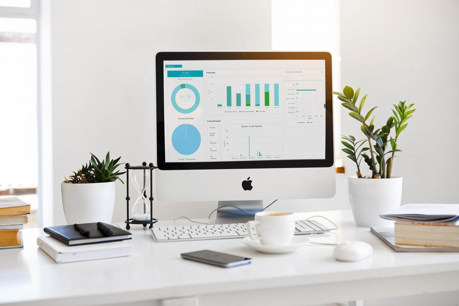 iMac computer on a modern desk