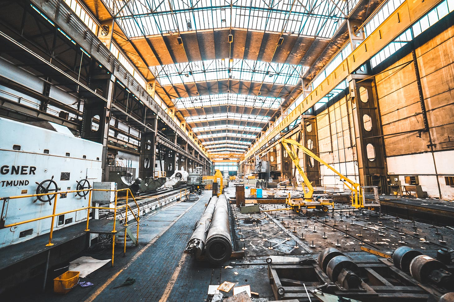 Interior of a vastly large factory