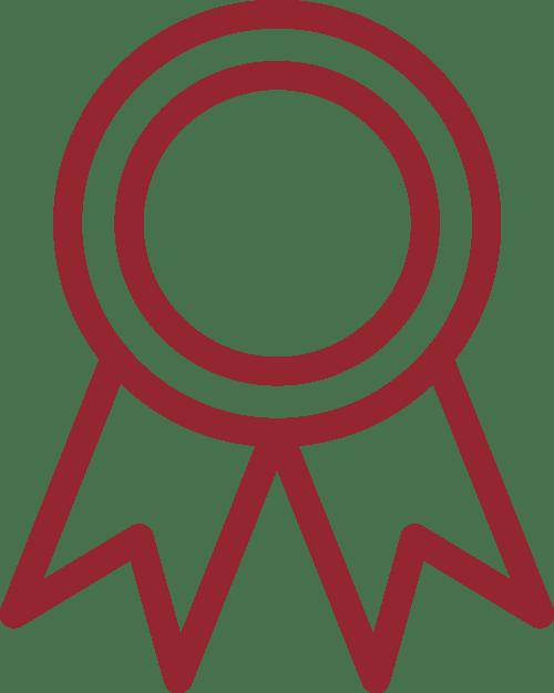 Icon of an award ribbon and medal