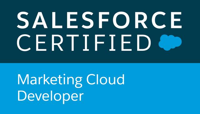 marketing cloud developer certification icon