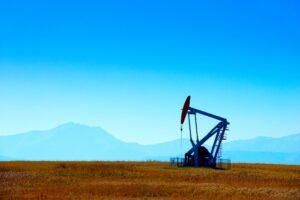 oil machinery in a field