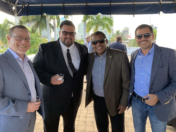 Gabriel Rodriguez, Nicholas Acosta, Stanley Rigaud and Matthieu Merchadou
