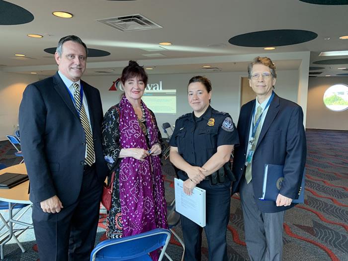 Ivan Barrios, Charlotte Gallogly, police officer and Greg Mcann