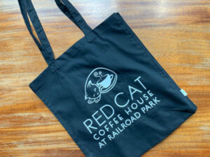 Red Cat Cotton Tote Bag