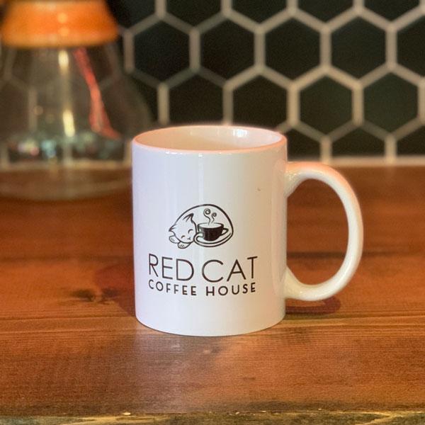 Red Cat Ceramic Coffee Mug