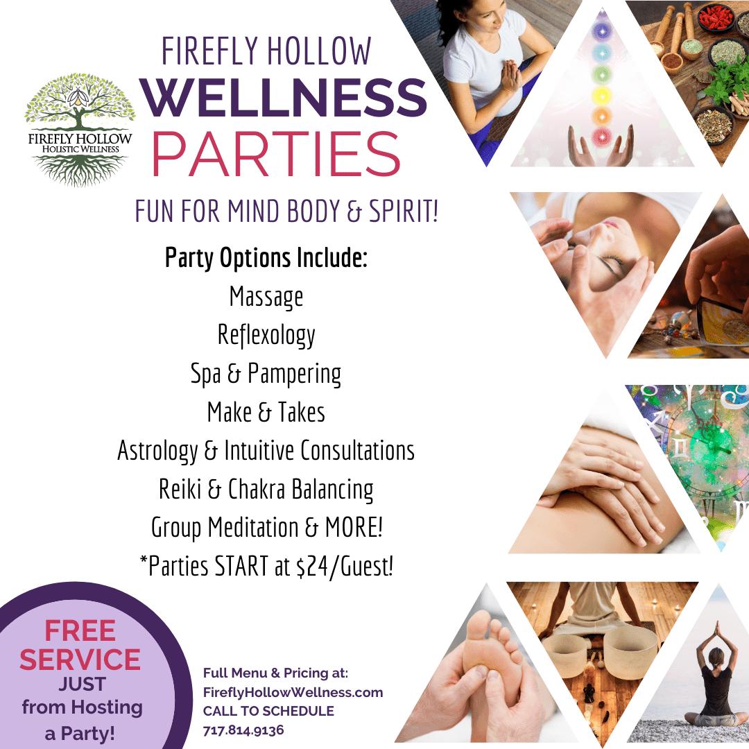 Massage & Wellness Party Promo Flier