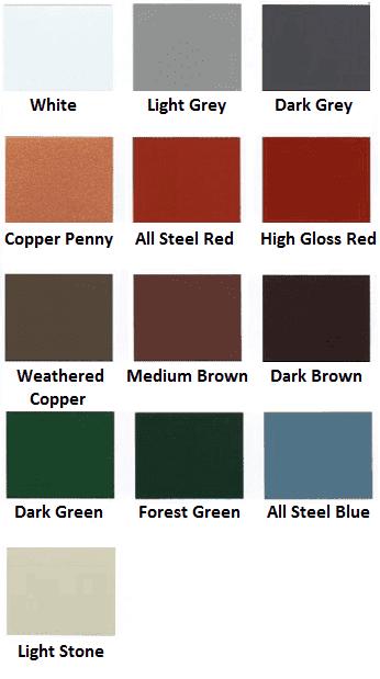 Snaplock color chart