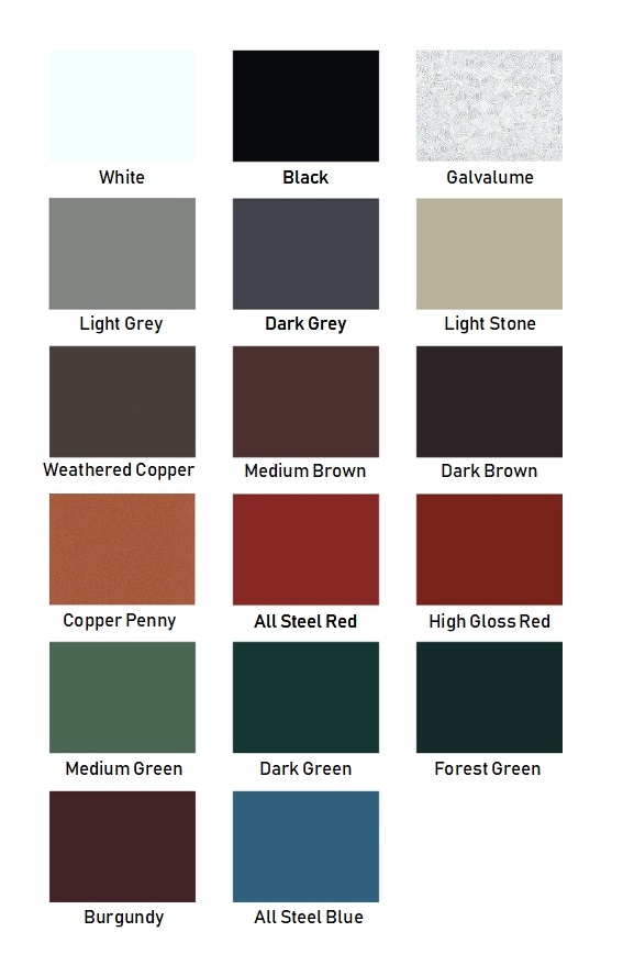Standing Seam Colors