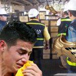 La DIAN retiene Botín de Oro de James Rodríguez