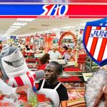 Plantel del Junior reubicado en tiendas Olímpica durante diciembre