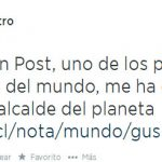 Alcalde Petro se ufana de ser el sexto mejor del mundo