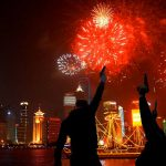 Con tiros futbolistas colombianos celebran el nuevo año chino