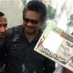 Iván Márquez traía billetes de 10.000 viejos