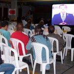 Santos envía video a asamblea de copropietarios y también es chiflado