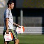 James regresó a entrenamientos con regalo muy colombiano: cajas de Dunkin Donuts