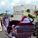 En retén, Papa Noel se queda sin pase por 25 años