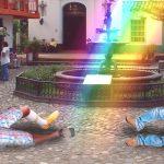 Tres hombres resultan heridos tras dispararle a arco iris en Medellín