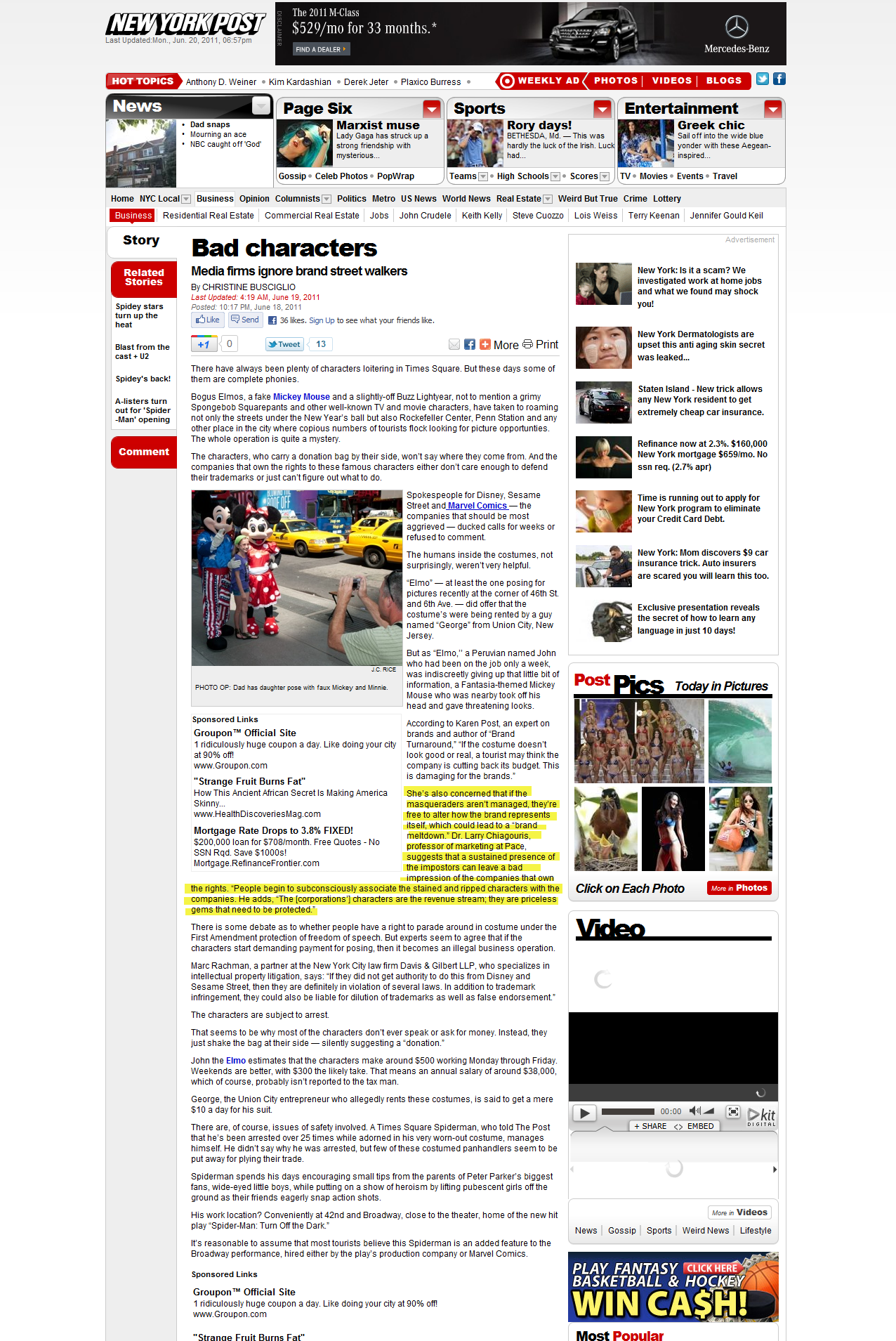Bad Characters –New York Post