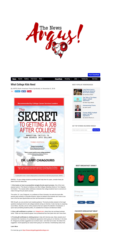 What College Kids Need Winston-Salem State University News