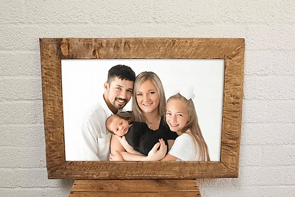 framed family photo