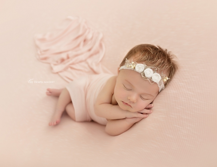 baby with pink background