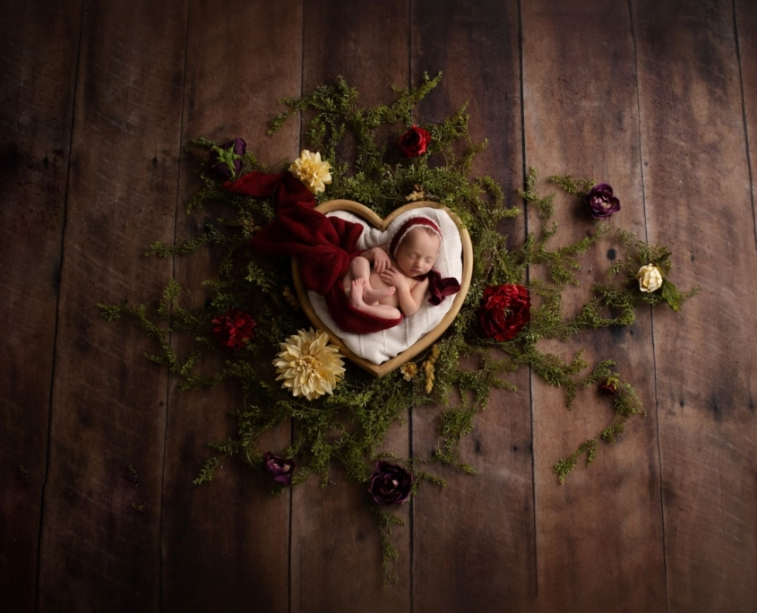 Heart shaped basket Newborn Session