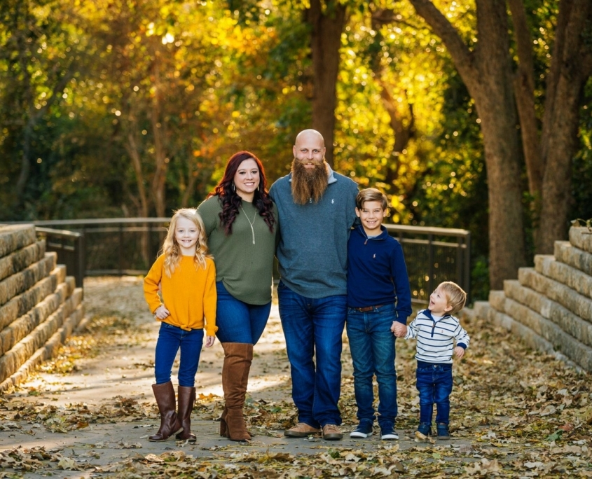 Family portrait in Waco
