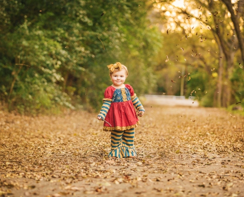 Girl during fall photoshoot