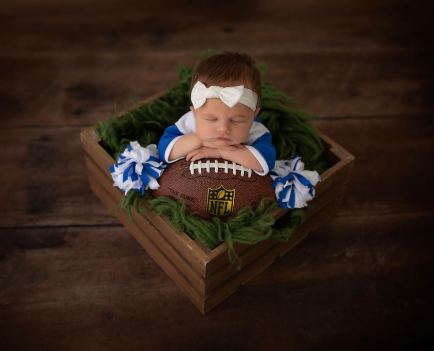 Baby boy with NFL football