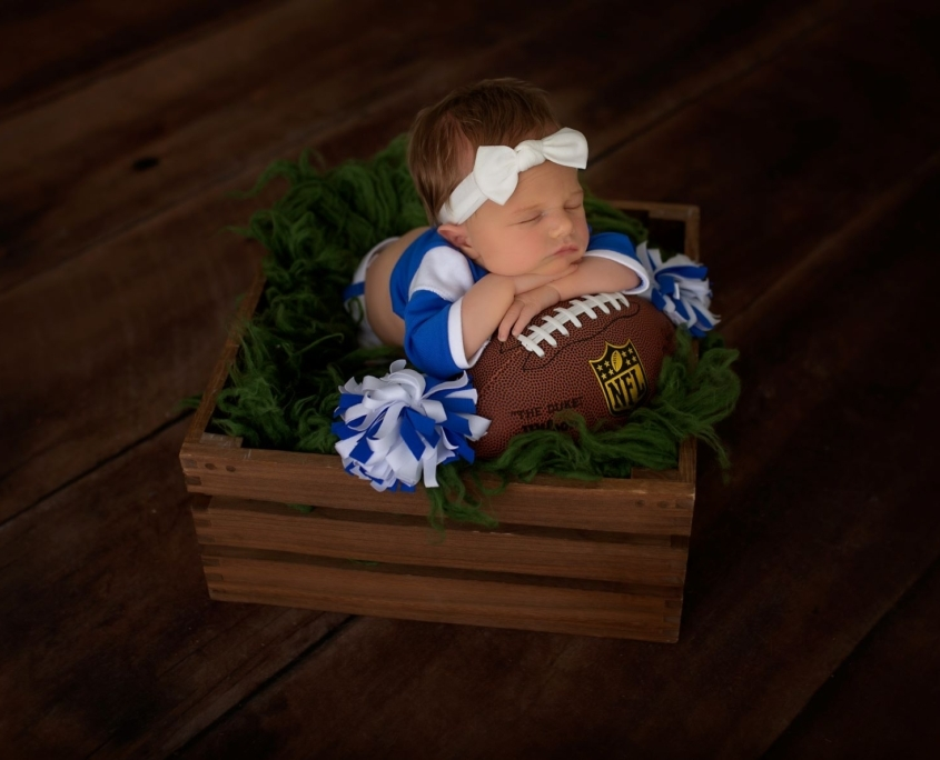 NFL themed Newborn session