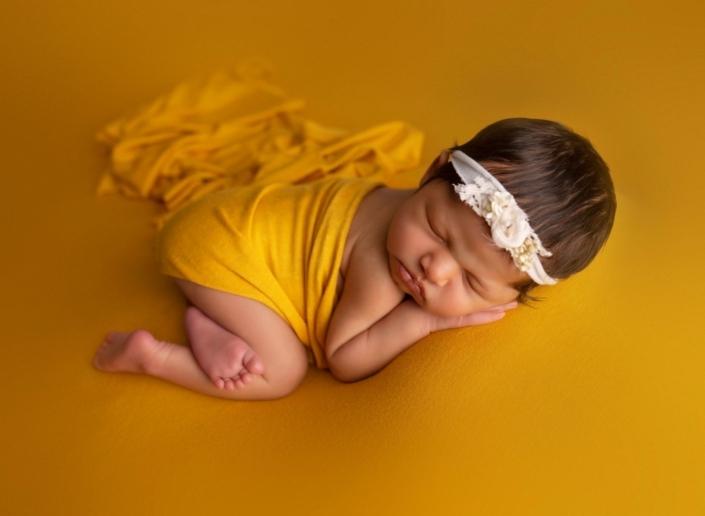 Yellow themed newborn session