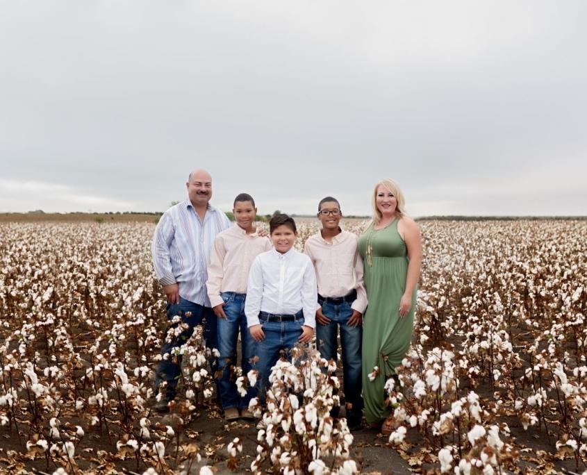 Family Portrait cotton field