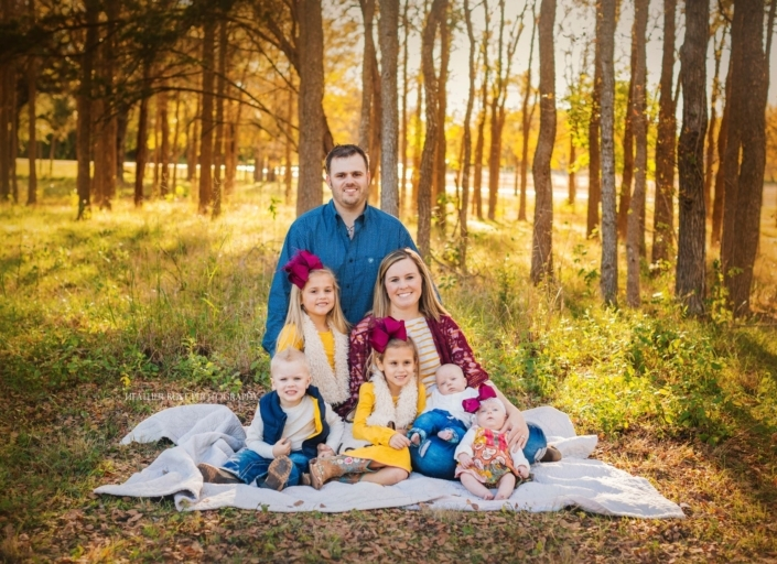 Family Photography in Waco forest