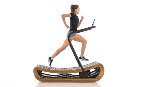 curved treadmill with monitor