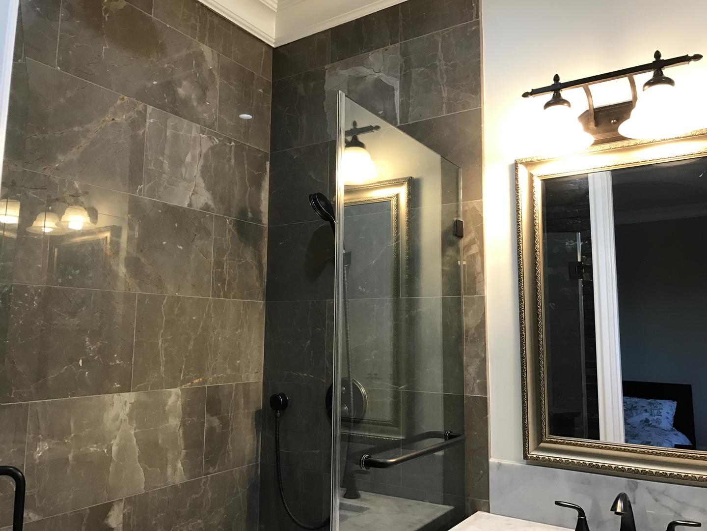 Tile shower area