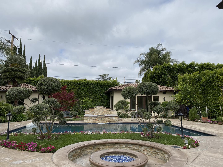 Pool area with beautiful landscape
