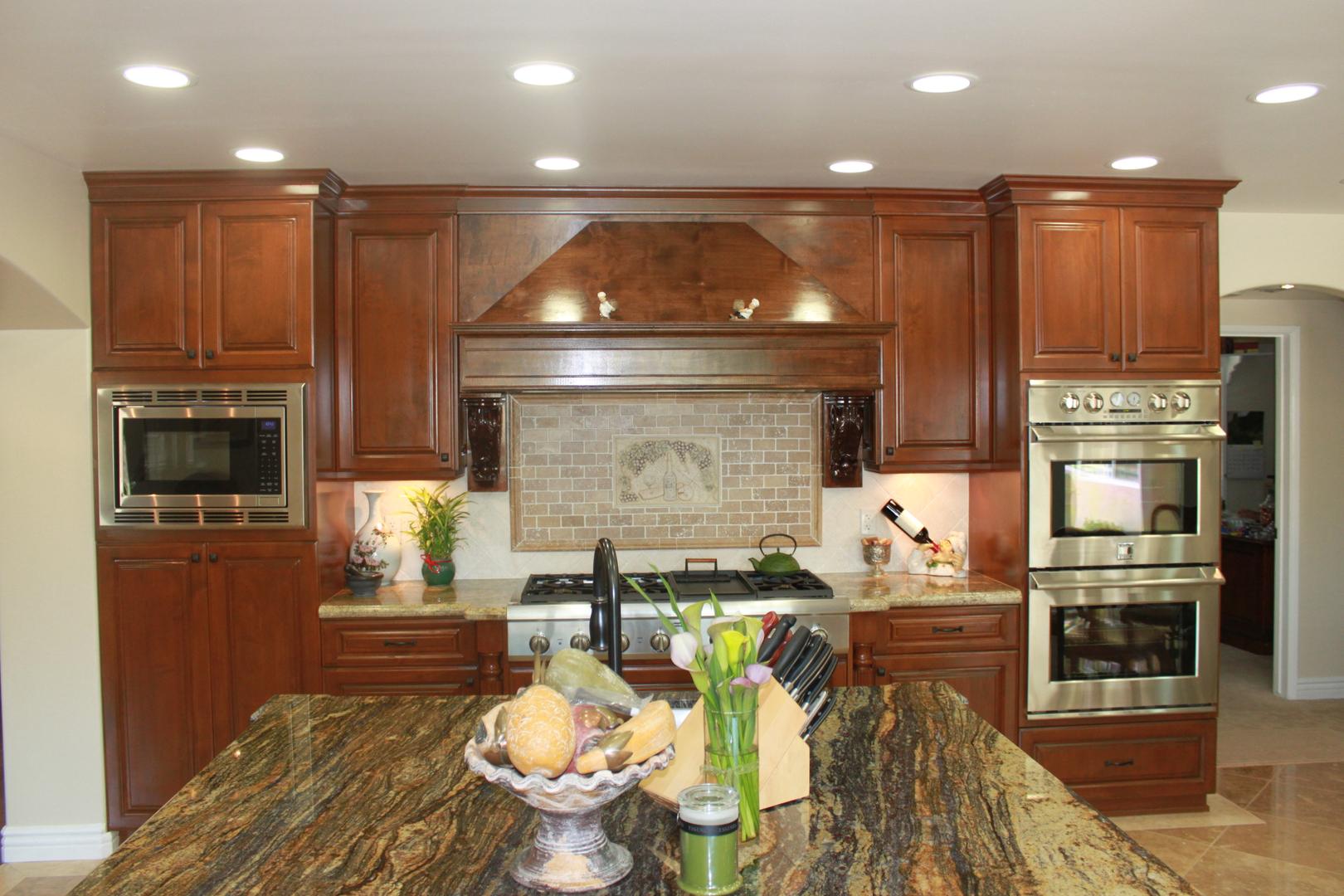 Wooden kitchen area