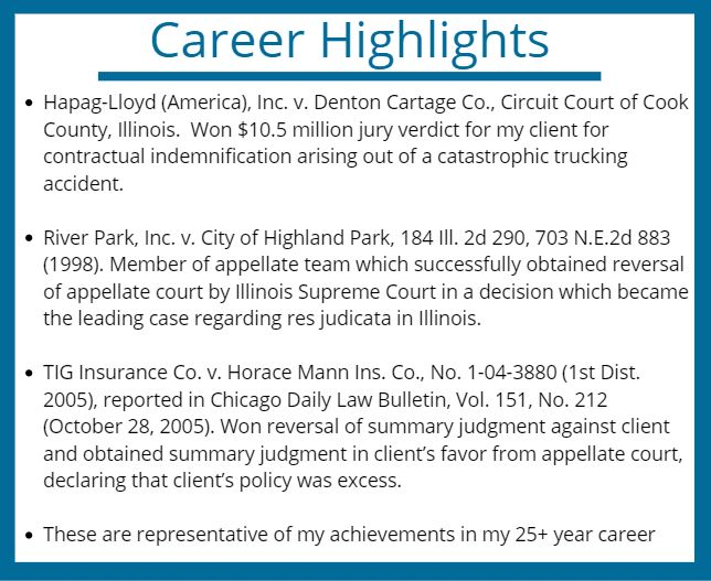 Career Highlights for David Jenkins: Chicago Personal Injury Lawyer