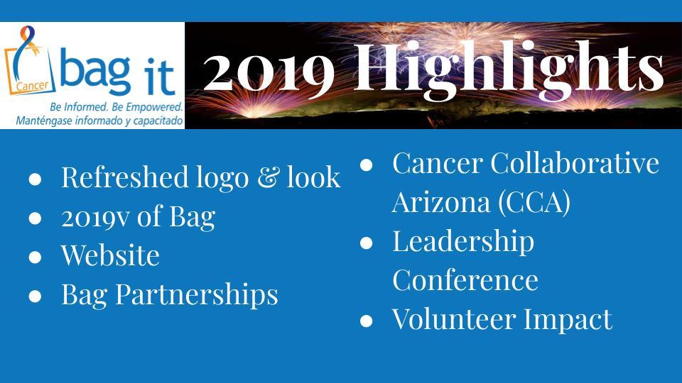 Bag It's 2019 Accomplishments