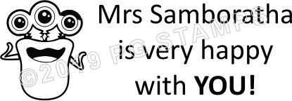 MONSTER 5 - Self inking customised teacher stamp