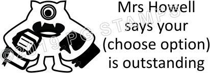 MONSTER 8  - Customised self inking teacher stamp