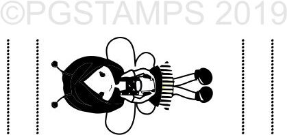 BEE 1 - Self inking teacher stamp