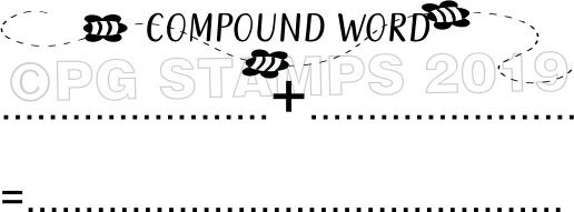 BEE 10 - Self inking compound word teacher stamp
