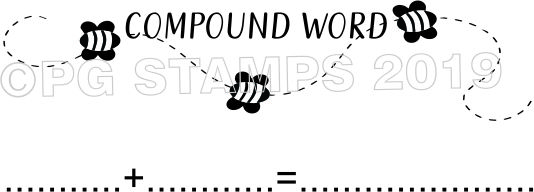 BEE 9 - Self inking compound word teacher stamp